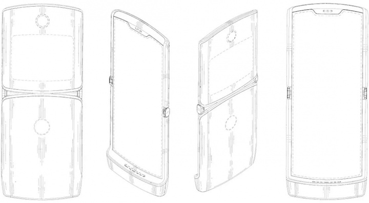 Imagens da patente do smartphone Motorola RAZR