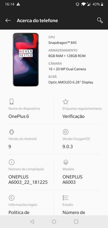 Oneplus 6 Stock Firmware