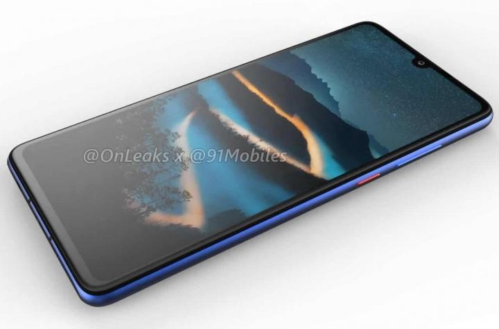 Imagem do provável novo Huawei P30, um smartphone Android de topo