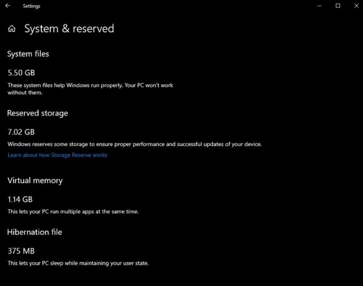 Windows 10 Reserved Storage Microsoft espaço reservar