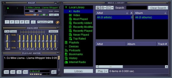 Winamp WACUP MP3 comunidade player