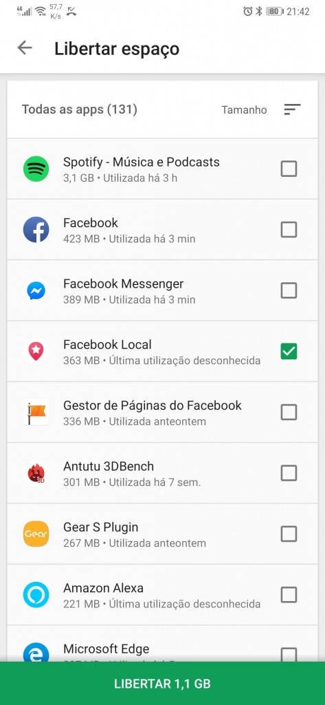 Play Store Android apps espaço Google