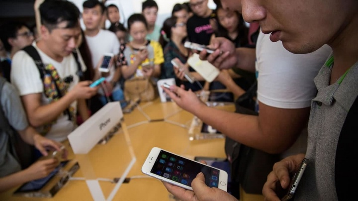Clientes huawei na Apple com o iPhone