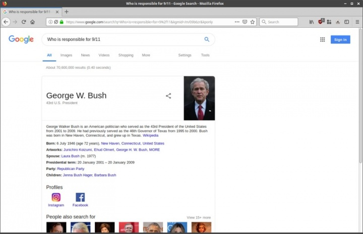 Google pesquisas falha informação links
