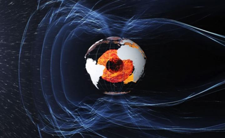 Imagem dos polos magnéticos da Terra