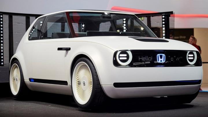 Imagem do comncept Urban EV, um dos carros elétricos Honda
