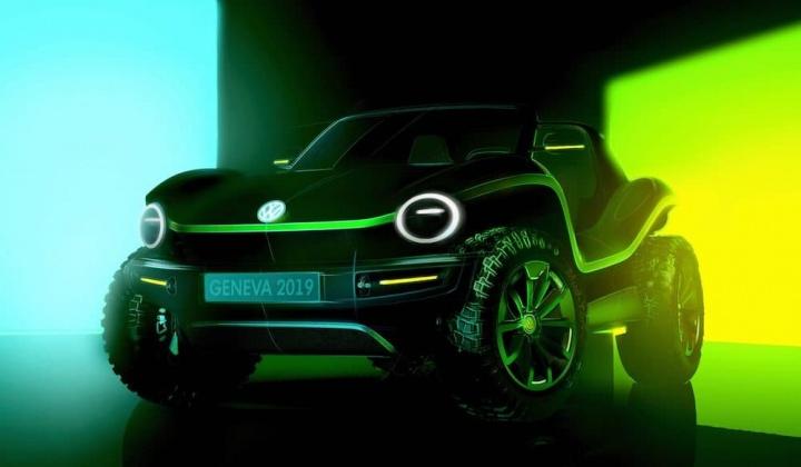 Imagem da Volkswagen com o novo carro elétrico ID Buggy