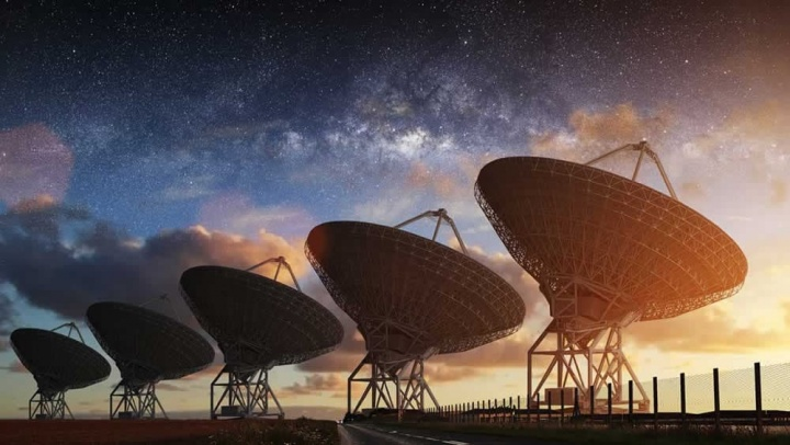 Imagem ilustra o Technosearch do SETI para pesquisar extraterrestres