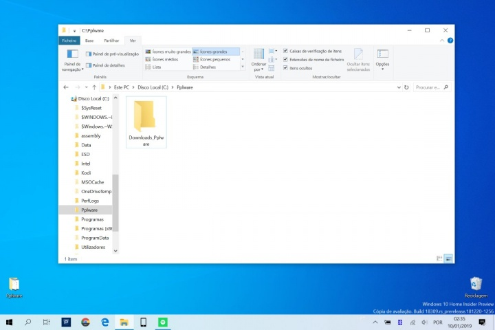 Windows 10 transferências pasta localização dica