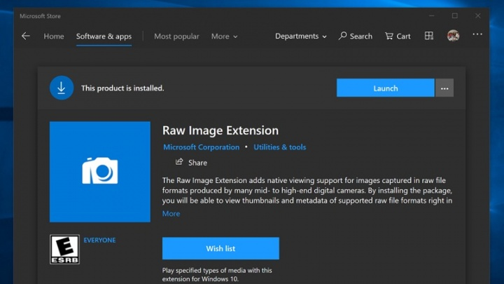 RAW Windows 10 Microsoft imagens formato