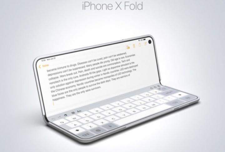 Apple iPhone X Fold Samsung Galaxy Fold 1