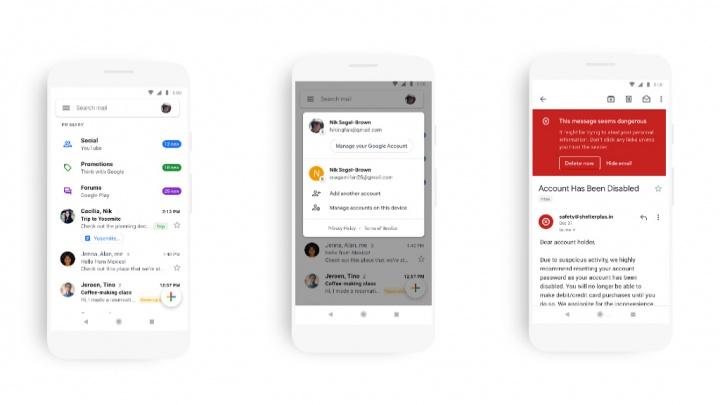 Gmail Android app aplicação