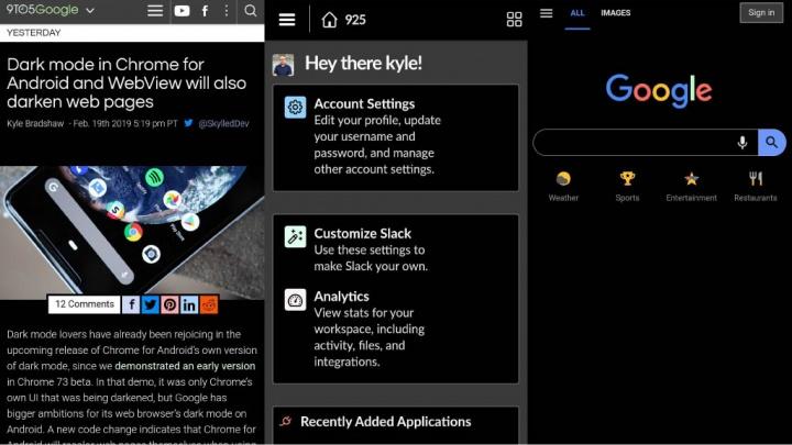 Google Chrome Android Web Dark Mode