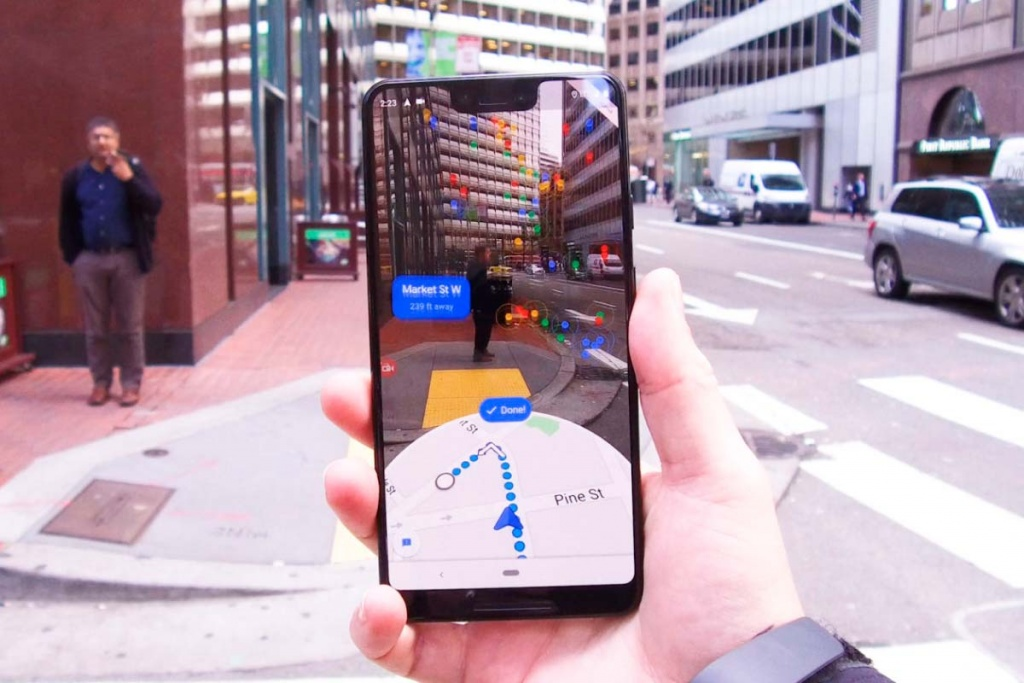 Google Maps realidade aumentada AR