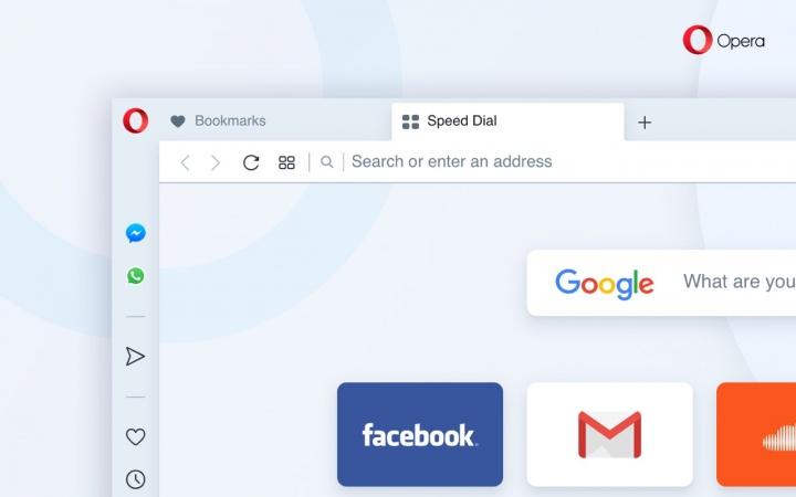 Opera Reborn 3 browser Internet interface