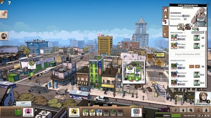 Imagem de Weedcraft que é um jogo controverso de gestão