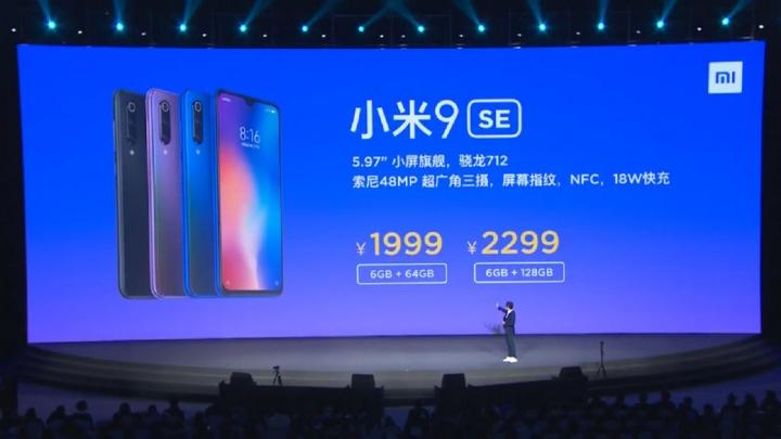 smartphones Android Xiaomi Mi 9 SE smartphone Snapdragon 4