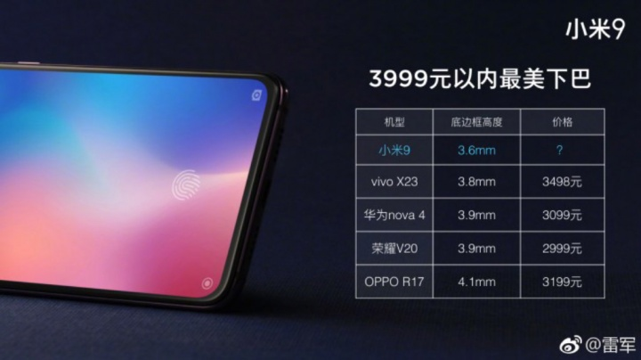 Xiaomi Mi 9 smartphone Android preços