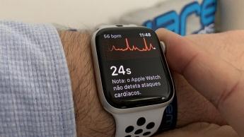 Imagem Apple Watch com monitorização do coração