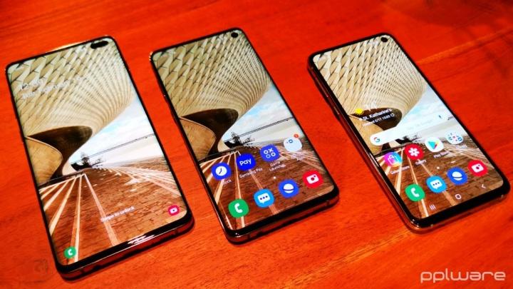 Galaxy S10+ iPhone XS Max Samsung desempenho teste