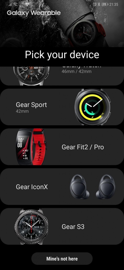 Samsung wearables app Android Watch Active