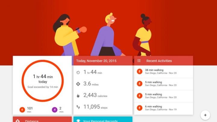 Google Fit Android Wear OS exercício