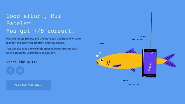 Google, teste, phishing