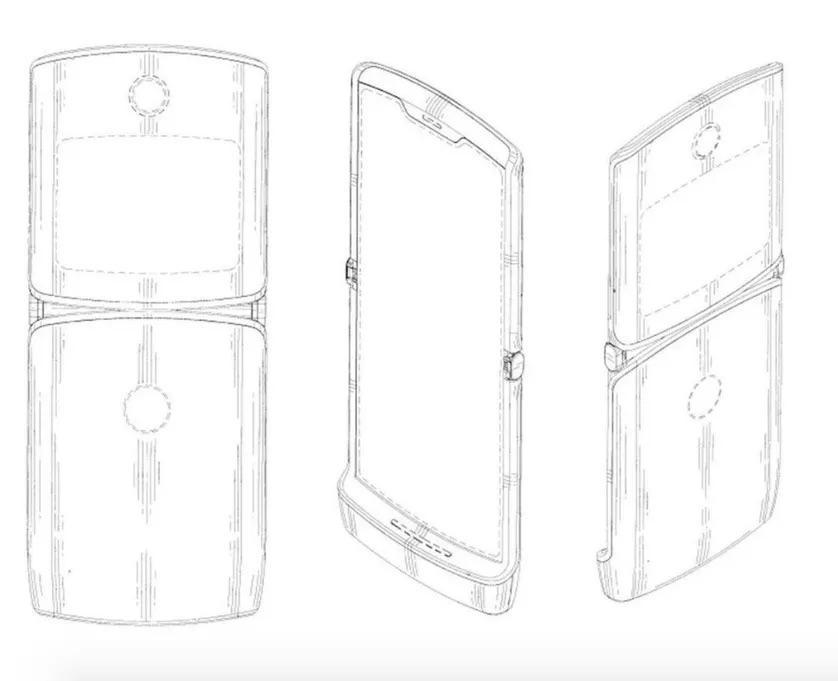 Motorola Razr dobrável smartphone ecrã