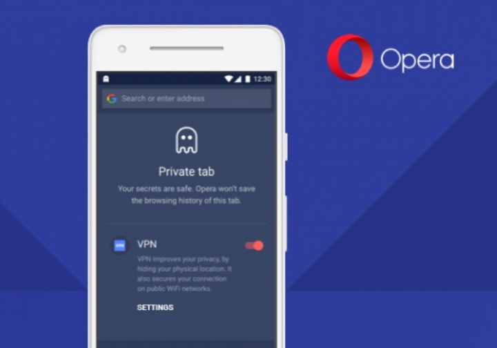 Opera VPN Android browser beta