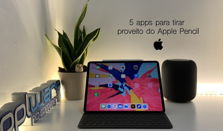 Apps para iPad Pro da Apple usando Apple Pencil