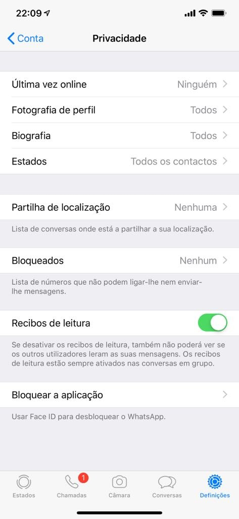 WhatsApp Face ID Touch ID iPhone segurança