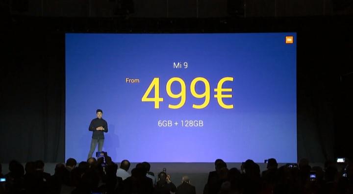 Xiaomi Mi 9 smartphone Android MWC19