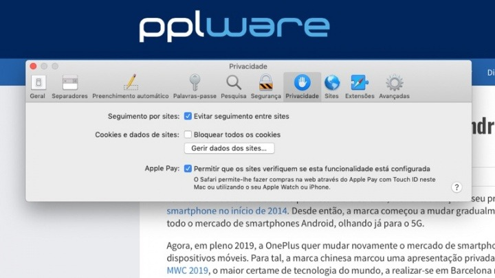 Safari Do Not Track Apple segura browser