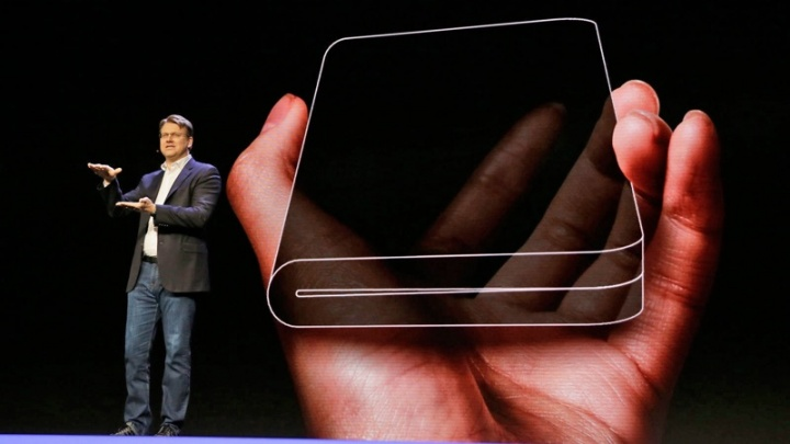 Samsung dobrável smartphone vídeo Galaxy S10