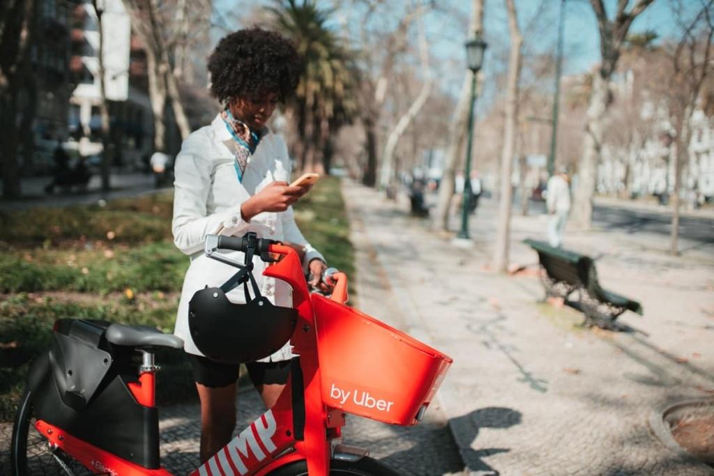 Uber Jump Lisboa bicicletas elétricas