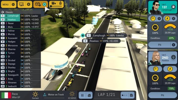 Altas rotações de Motorsport Manager a caminho da Nintendo Switch