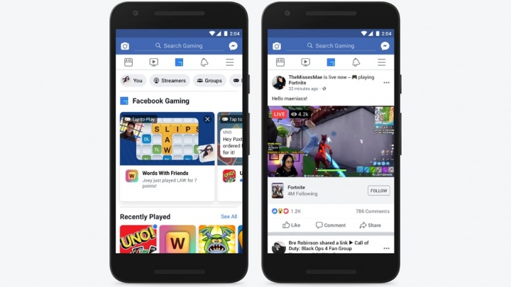 Facebook gaming YouTube Twitch