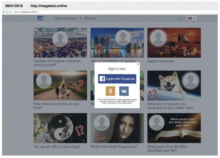 Facebook pplware questionário malware rede social plugin