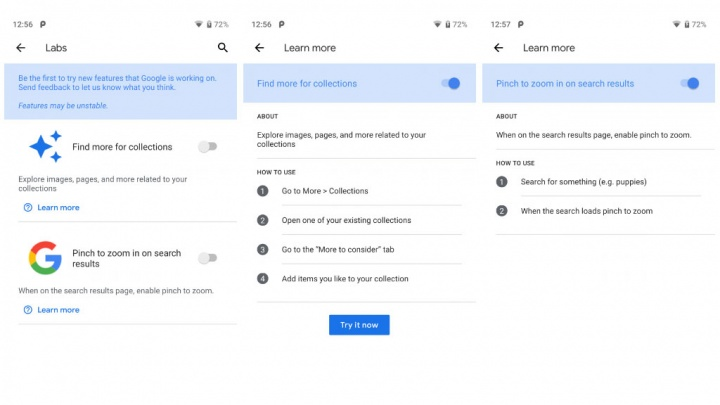 Google Labs App Android