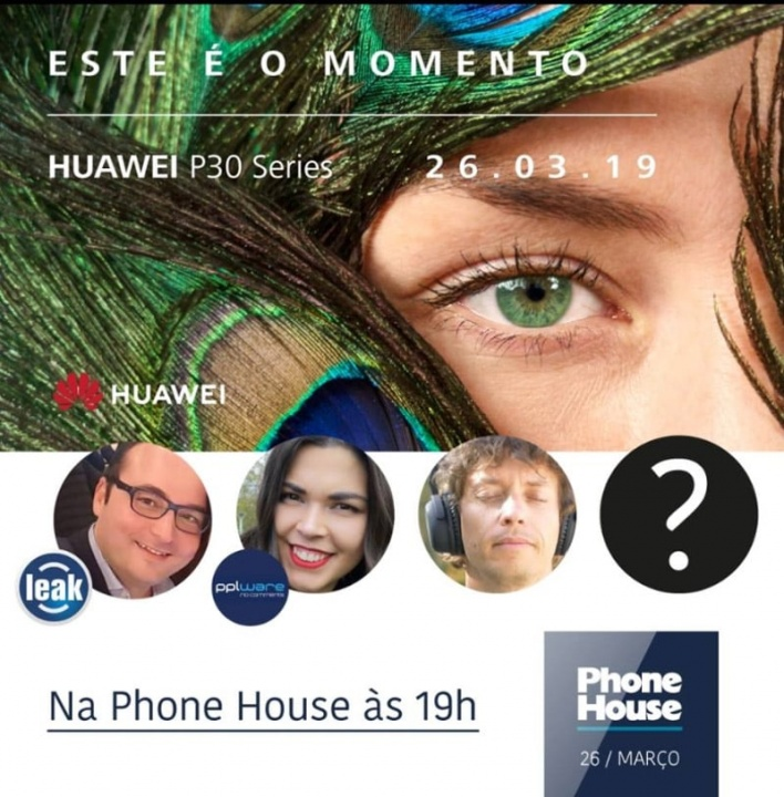 Huawei P30 smartphone Android evento apresentação