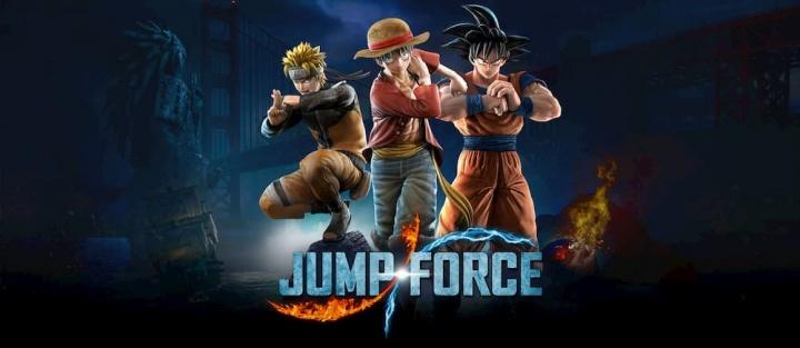 Jump Force lançado pela Konami e desenvolvido pela Spike Chunsoft, disponível para Xbox One e PS4