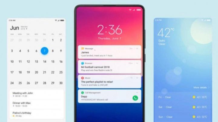 Xiaomi Redmi MIUI smartphones sete