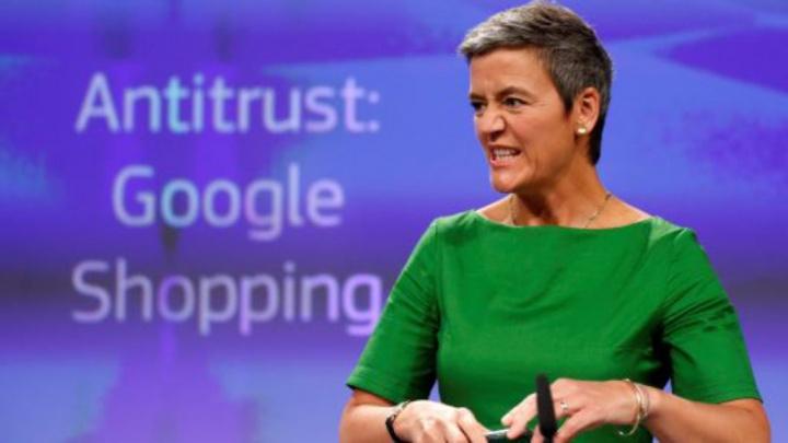 Margrethe Vestager Google Europa Bruxelas euros multa Google Facebook Amazon Apple Comissão Europeia Valve Steam jogos Comissão Europeia