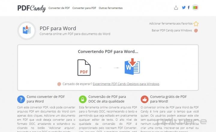 PDF Candy - faça qualquer tarefa com PDFs, online e sem instalação, incluindo editar PDFs