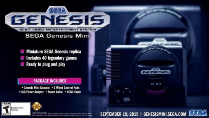 Sega Mega Drive Mini jogos