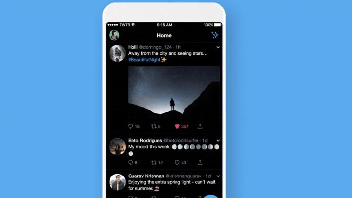 Twitter Dark Mode iOS Apple app