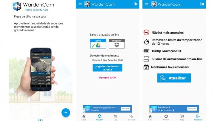 WardenCam smartphone Android iOS