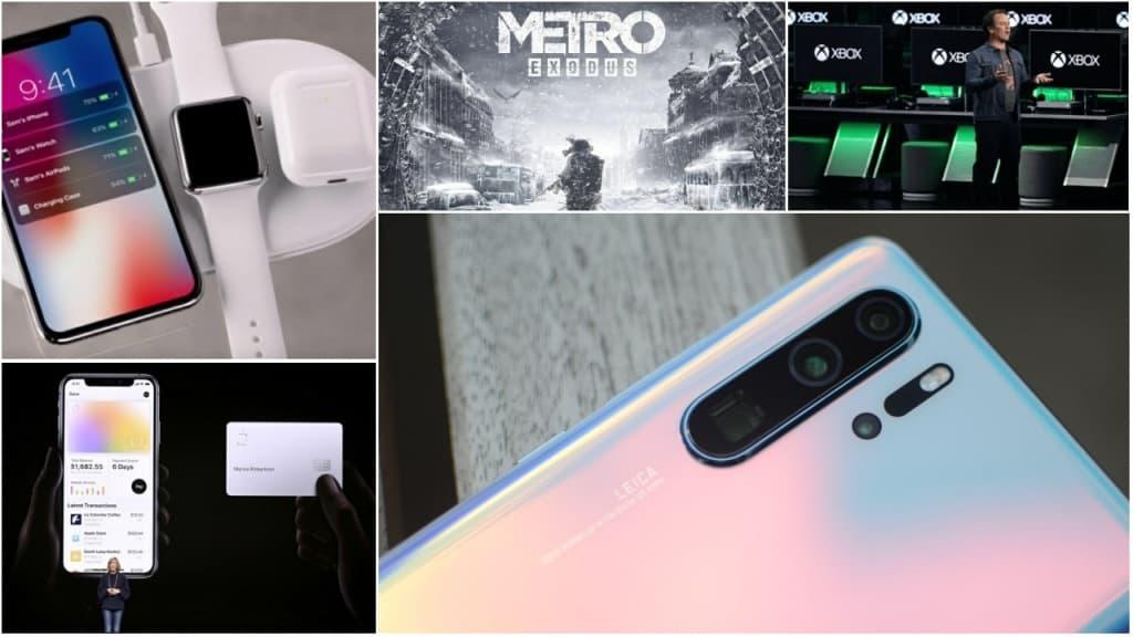 Nos destaques desta semana acompanhámos as novidades da Apple na área dos pagamentos virtuais e na apresentação de novos serviços e testemunhámos o lançamento do novo topo de gama Huawei P30 Pro. Também trazemos algumas novidades da Samsung e da Xiaomi.
