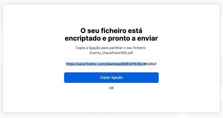 Firefox Send: Envie ficheiros até 2,5 GB de forma segura e gratuita