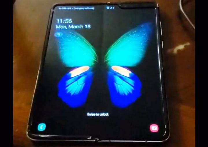 Samsung Galaxy Fold ecrã dobrável smartphone problema